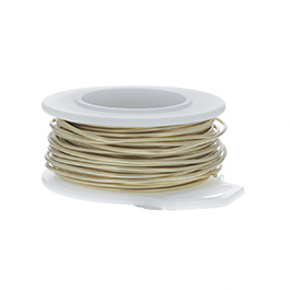 28 Gauge Round Yellow Brass Craft Wire - 120 ft