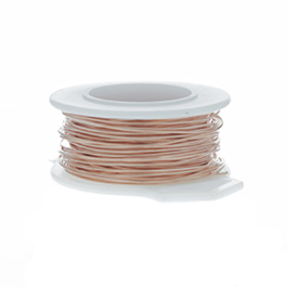 24 Gauge Round Copper Craft Wire - 60 ft
