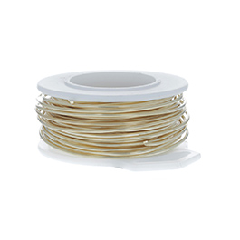 26 Gauge Round Gold Tone Brass Craft Wire - 90 ft