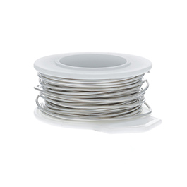 22 Gauge Round Nickel Silver Craft Wire - 45 ft
