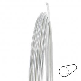 21 Gauge Round Full Hard Argentium .930 Silver Wire - 1 FT