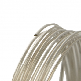22 Gauge Half Round Dead Soft Argentium .930 Silver Wire - 1 FT