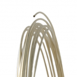 28 Gauge Round Half Hard Argentium Wire .930 Silver Wire - 1 FT