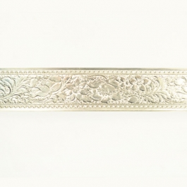 Wide Fancy Floral Sterling Silver Pattern Wire - 18 Inches