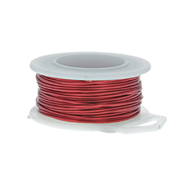 12 Gauge Round Red Enameled Craft Wire - 5 ft
