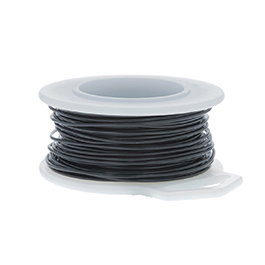 22 Gauge Round Black Enameled Craft Wire - 45 ft