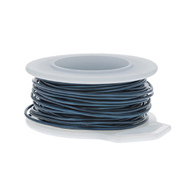 28 Gauge Round Blue Enameled Craft Wire - 120 ft