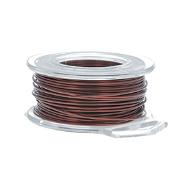 22 Gauge Round Brown Enameled Craft Wire - 45 ft