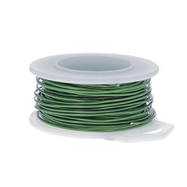 22 Gauge Round Green Enameled Craft Wire - 45 ft