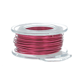 24 Gauge Round Magenta Enameled Craft Wire - 60 ft