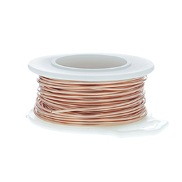 24 Gauge Round Natural Enameled Craft Wire - 60 ft