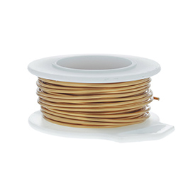 22 Gauge Round Bronze Enameled Craft Wire - 45 ft