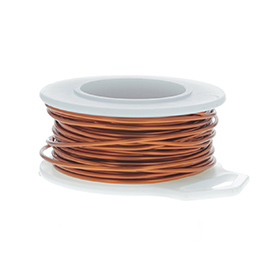 28 Gauge Round Amber Enameled Craft Wire - 120 ft