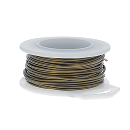 20 Gauge Round Vintage Bronze Enameled Craft Wire - 30 ft