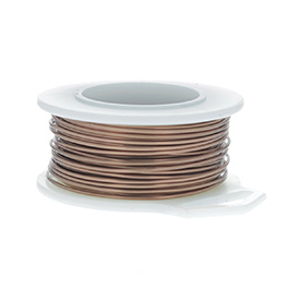 18 Gauge Round Antique Copper Enameled Craft Wire - 21 ft