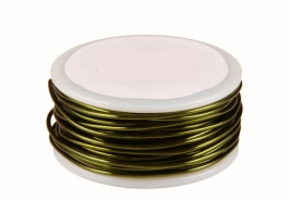 14 Gauge Round Olive Enameled Craft Wire - 10ft