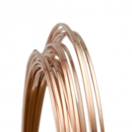 18 Gauge Square Half Hard 14/20 Rose Gold Filled Wire - 1 FT
