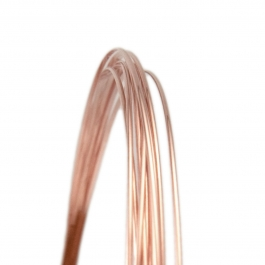 21 Gauge Half Round Half Hard 14/20 Rose Gold Filled Wire