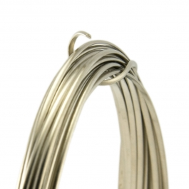 20 Gauge Half Round Half Hard Nickel Silver Wire - 1 FT
