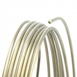 24 Gauge Round Half Hard Nickel Silver Wire - 1 FT