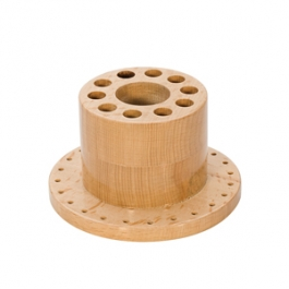 Round Wooden Tool Stand