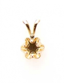 6mm Round Gold Filled Buttercup Pendant Snapset for Faceted Gemstone with Bail - Pack of 1