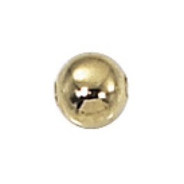 4mm Gold Plated Seamed Round Bead - Pack of 10