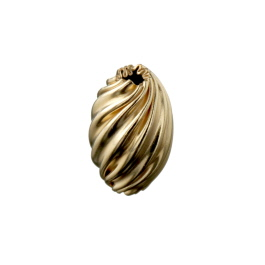 Gold Filled Bead Twist Oval 6.5x10.5mm - Pack of 1