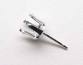 4mm Round Sterling Silver Stud Snapset for Faceted Gemstone - Pack of 2