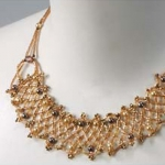Netting Frill Necklace Kit--Cinnamon