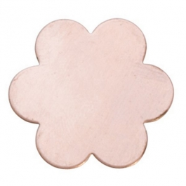 "18GA COPPER 6 PETAL FLOWER, 7/8""- PK/6"