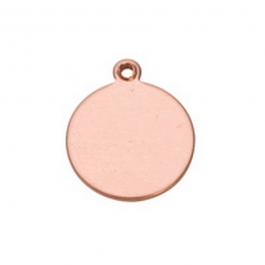 Copper Shape, Round Drop, 3/4 inch, 6 Pieces