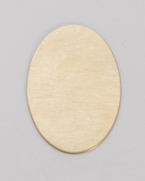Brass Oval, 24 Gauge, 25 by 18 Millimeters, Pack of 6