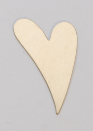 Brass Funky Heart, 24 Gauge, 1-1/2 by 1 Inch, Pack of 6