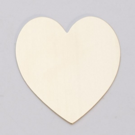 "BRASS 24ga- 1-3/8"" x        1-1/2""  LARGE HEART - Pack of 6"
