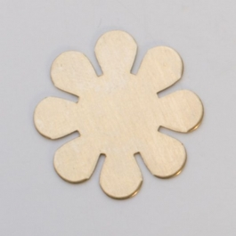 Brass 8-Petal Flower, 24 Gauge, 15/16 Inch, Pack of 6