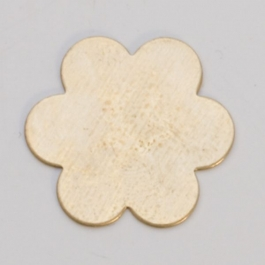 Brass 6-Petal Flower, 24 Gauge, 7/8 Inch, Pack of 6