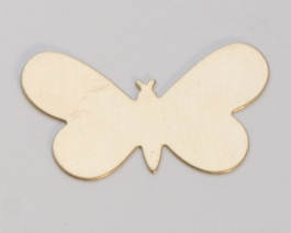 Brass Butterfly, 24 Gauge, 1-5/16 by 3/4 Inch, Pack of 6