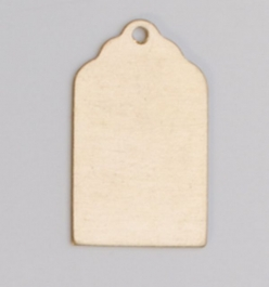 Brass Luggage Tag with Hole, 24 Gauge, 13/16 by 1/2 Inch, Pack of 6