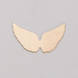 BRASS 24ga - ANGEL WINGS - Pack of 6