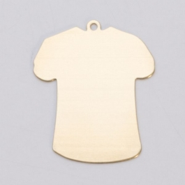 BRASS 24ga - SMALL T-SHIRT W/RING - Pack of 6