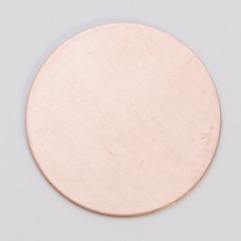 Copper Circle, 24 Gauge, 1 Inch, Pack of 6