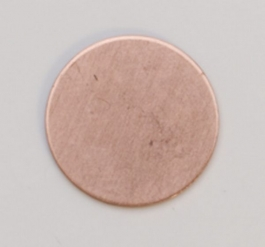 Copper Circle, 24 Gauge, 1/2 Inch, Pack of 6