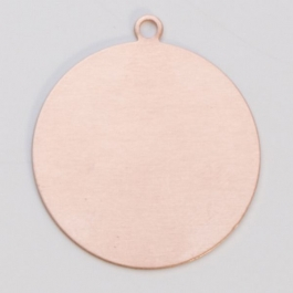 Copper Circle with a Ring, 24 Gauge, 3/4 Inch, Pack of 6