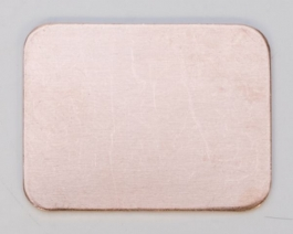 Copper Rectangle, 24 Gauge, 3/4 by 1 Inch, Pack of 6