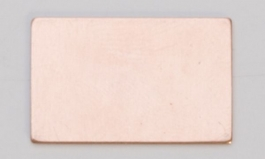 Copper Rectangle, 24 Gauge, 1/2 by 7/8 Inch, Pack of 6