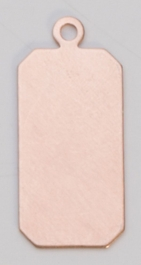 Copper Rectangle with Ring, 24 Gauge, 1 by 7/16 Inch, Pack of 6
