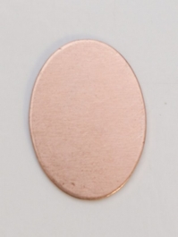 Copper Oval, 24 Gauge, 18 by 13 Millimeters, Pack of 6