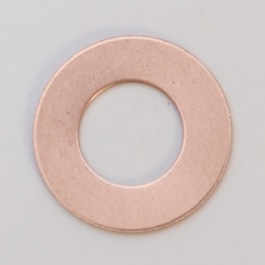 Copper Washer, 24 Gauge, 3/4 Inch, Pack of 6