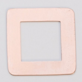 Copper Square Washer, 24 Gauge, 1-3/16 Inch, Pack of 6